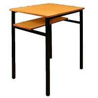 Single Student Table - Half Shelf 600x600x760mm