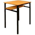 Single Student Table - Half Shelf 600x450x760mm