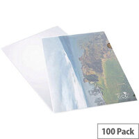 Rapesco ECO Cut Flush Folders A4 Clear Pack Of 100