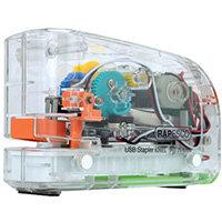 Rapesco 626EL USB Electric Stapler Transparent 1450