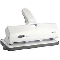 Rapesco ALU 40 Heavy Duty 4 Hole Punch Chrome and White 1324