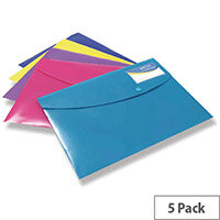 Rapesco ID Popper Wallet A4 Plus Assorted Pack of 5 0701