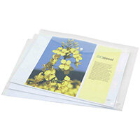 Rapesco Eco PP Popper Wallet A3 Clear Pack of 5 1042