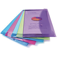 Rapesco Foolscap Assorted Popper Wallet Pack of 5 3 For 2 HT810931