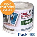 An Post 70 Cent Irish Postage Stamps x Roll of 100 Stamp Per Box