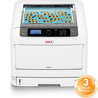 OKI C834DNW A3 Colour Laser Printer - Print speed (Colour A4) 36pp/m - USB, Network, Wireless Wi-Fi - 600 x 1,200 Resolution