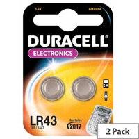 Duracell LR43 Watch Battery 1/3 AA Alkaline 1.5 V DC 2 Pack