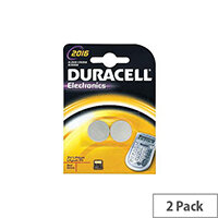 Duracell DL2016B2 Multipurpose Battery Lithium Manganese Dioxide (Li-MnO2) 3 V DC 2 Pack