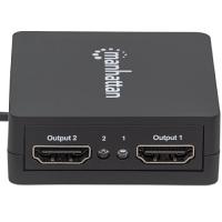Manhattan Signal Splitter - Plastic - 1920 x 1200 - 225 MHz Maximum Video Bandwidth - 15 m Maximum Operating Distance - HDMI In - HDMI Out