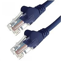 Group Gear 0.5M Blue RJ45 UTP CAT 5e Stranded Flush Moulded Snagless Network Cable 24AWG 22184