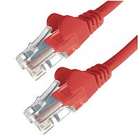 Group Gear 0.5M Red RJ45 UTP CAT 5e Stranded Flush Moulded Snagless Network Cable 24AWG 22185