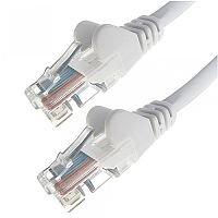 Group Gear 0.5M White RJ45 UTP CAT 5e Stranded Flush Moulded Snagless Network Cable 24AWG 22192