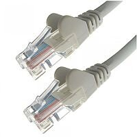 Group Gear 1M Grey RJ45 UTP CAT 5e Stranded Flush Moulded Snagless Network Cable 24AWG 22195