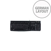 Logitech K120 Keyboard Cable Connectivity Black USB Interface German
