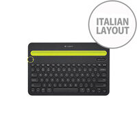 Logitech K480 Keyboard Wireless Connectivity Bluetooth Black Italian Compatible with Smartphone Tablet Computer Tablet Smartphone
