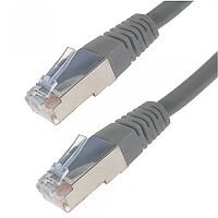 1M Grey RJ45 SSTP CAT 6A Stranded Flush Moulded Network Cable 26AWG LS0H 22823