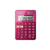 Canon LS-100K Simple Calculator Dual Power Large Display Angled Display Key Rollover Sign Change Auto Power Off Non-slip Rubber Pad Double Zero Battery/Solar Powered 22 mm x 83 mm x 118.5 mm Pink
