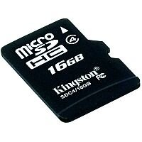 Kingston 16 GB microSDHC Card SDC4/16GB with Adapter