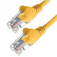 Group Gear 0.5M Yellow RJ45 UTP CAT 5e Stranded Flush Moulded Snagless Network Cable 24AWG  22186