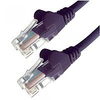Group Gear 1M Purple RJ45 UTP CAT 5e Stranded Flush Moulded Snagless Network Cable 24AWG  22203