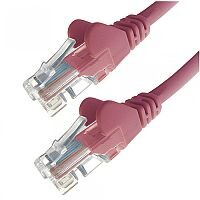 Group Gear 1M Pink RJ45 UTP CAT 5e Stranded Flush Moulded Snagless Network Cable 24AWG  22206