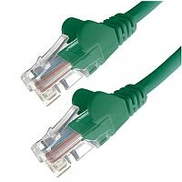 Group Gear 2M Green RJ45 UTP CAT 5e Stranded Flush Moulded Snagless Network Cable 24AWG  22223