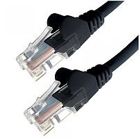 Group Gear 1M Black RJ45 UTP CAT 6 Stranded Flush Moulded Snagless Network Cable 24AWG LS0H 22324