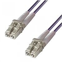 Group Gear 2M Purple LC to LC 50/125 Micron OM4 Duplex Fibre Optic Patch Cable MultiMode 23045