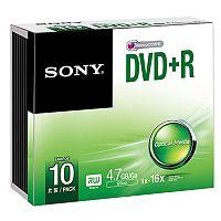 sony dvd+rw blank discs 25-pack
