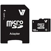 V7 microSDHC 16GB Class-10 Memory Card with Adapter 20MB/s (Pack of 1)
