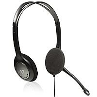 V7 Stereo Headset with Mic TRRS 3.5mm Jack Noise Cancelling 270° Omnidirectional Mic
