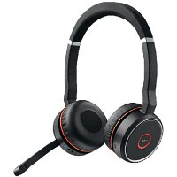 Jabra EVOLVE 75 Wireless Over-the-head Stereo Headset - Circumaural - 3048 cm - Bluetooth - 20 Hz to 20 kHz - Noise Canceling