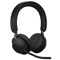 Jabra Headset Wireless Over-the-head Evolve2 65 Headset Stereo - Supra-aural -  Black - Noise Cancelling Microphone - Bluetooth