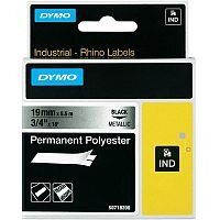 Dymo 18762 Multipurpose Label 19 mm Width x 5.50 m Length Rectangle Thermal Transfer Metallic Polyester