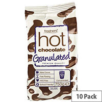 Freshers Granulated Instant Hot Chocolate For LB 2600 Coffee Machine 10 x 750g Packs