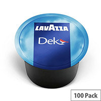 Lavazza Blue Dek Decaffeinated Coffee Capsules For Lavazza Blue Capsule System Coffee Machines - Pack of 100 Coffee Pods