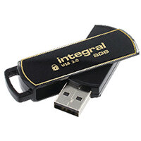 Integral Secure 360 Encrypted USB 3.0 8GB Flash Drive INFD8GB360SEC3.0