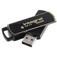 Integral Secure 360 Encrypted USB 3.0 32GB Flash Drive INFD32GB360SEC3.0