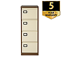 4-Drawer Filing Cabinet Brown & Cream SPECIAL OFFER Jemini By Bisley