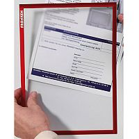 Franken Magnetic Document Holder ValueLine A3 Red ITSA3M 01
