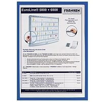 Franken Self-Adhesive Document Holder X-tra!Line A4 Blue ITSA4S 03