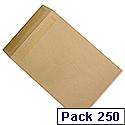 C4 Heavyweight Manilla Envelopes Pocket Press Seal Pack 250 5 Star Ref J90013