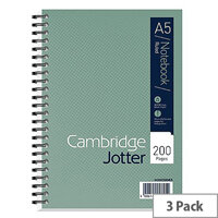 Cambridge JD A5 Jotter Wirobound Notebook Pack of 3