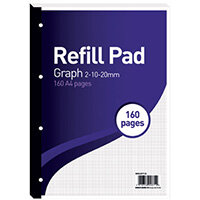 Hamelin 2-10-20mm Graph Refill Pad A4 80 Sheet Pack of 5 400127712