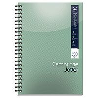 A4 Notebook 200 Page Wirebound Feint & Margin Ref 400039062 Cambridge [Pack 3]