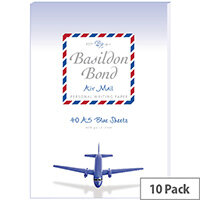 Basildon Bond Blue Airmail Writing Pad 148 X 210mm Pack of 10 100104698