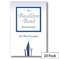Basildon C6 Blue Bond Small Envelopes Pack of 20