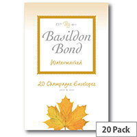 Basildon C6 Champagne Bond Envelope Small Pack of 20