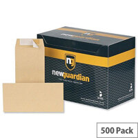 New Guardian DL Envelopes Heavyweight Pocket Peel and Seal Manilla (Pack of 500)