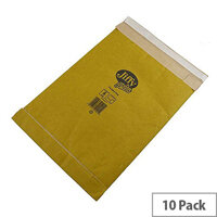 Jiffy Bag Size 6 Gold Padded Envelopes 295x458mm 10 Pack